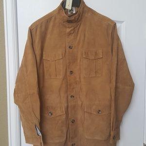 Peter Millar suede leather shirt jacket
